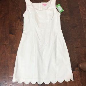 New Lilly Pulitzer White Ribbon Dress
